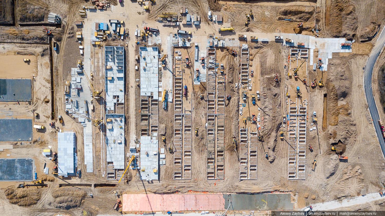 Строительство коронавирусного госпиталя больницы в Подмосковье Новой Москве ТиНАО фото коронавирус больница стройка