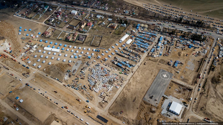 Коронавирусная больница Троицк тинао московская область инфекционный центр вороновское голохвастово строительство стройка